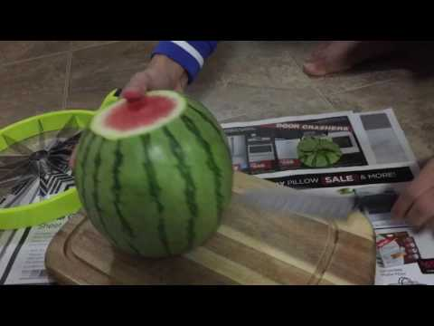 How to cut watermelon quickly and easily 2016