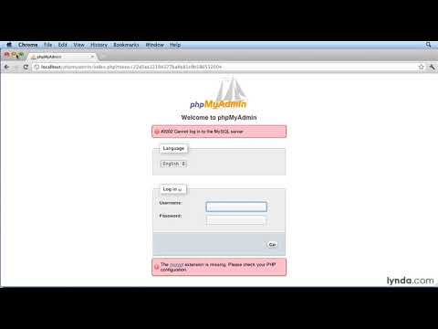 How to install phpMyAdmin on a Mac   lynda.com tutorial