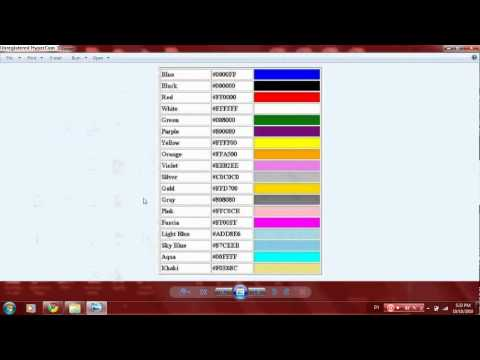 YouTube Channel Color Codes