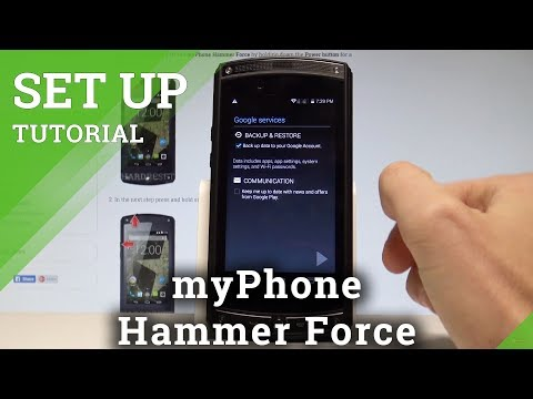 How to Add Google Account in myPhone Hammer Force - Set Up Google Account |HardReset.Info