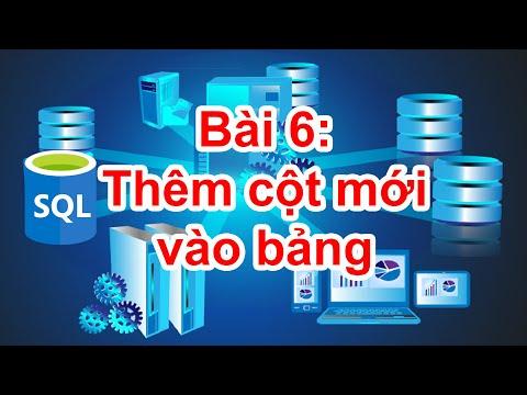 SQL-08: Thêm các cột vào bảng bằng lệnh ALTER TABLE ADD