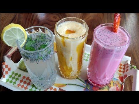 Summer Special Recipes   Jigarthanda - Rose Syrup   Lemon / Mango Milk Shake   Summer Special Juices