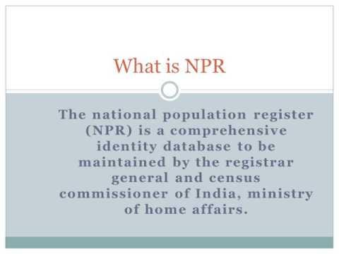 NPR Card Info | Apply Online | Check Status