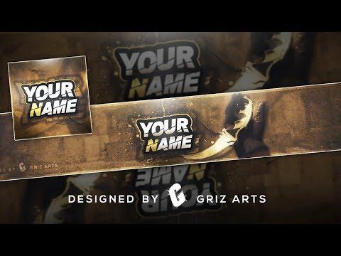 ✅ CS:GO Free Youtube Banner & Avatar Template 2017   Photoshop CS6 & CC (Speedart)