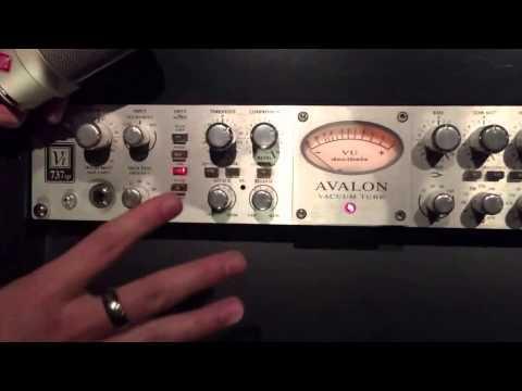 Basic Avalon 737 Setup For Vocal Input Compression
