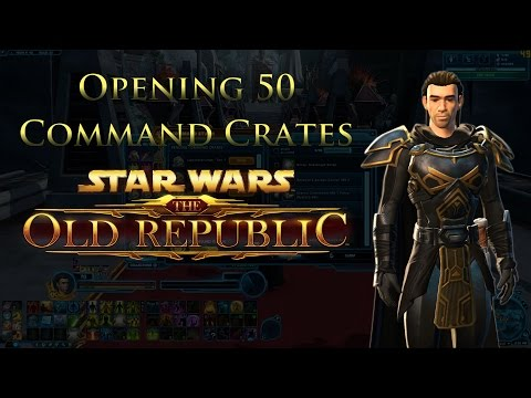 SWTOR: Opening 50 Tier 1 Command Experience Crates! (Sage)