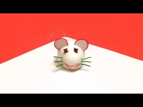 How to Make a Mouse with a cooked Egg / Easter Ideas, Food Art, Garnish