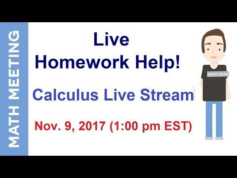 Live Homework Help - Calculus Live Stream
