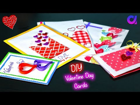 5 very easy Pop-up cards for valentine's day | diy paper crafts | Artkala 402.
