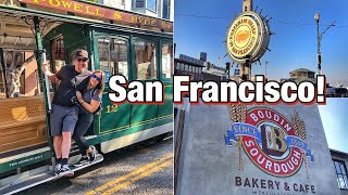 San Francisco DAY 1! Diner Food, Our First Trolley Ride Experience & Fisherman's Wharf Boudin!
