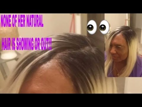Illusion Hairline and Part Quickweave NO LEAVEOUT