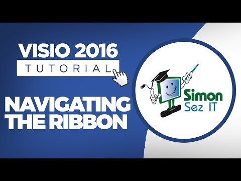 How to Navigate the Ribbon in Visio 2016