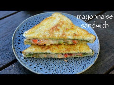 mayonnaise sandwich recipe | mayo sandwich | veg mayonnaise sandwich