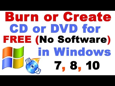 How to Burn or Create CD or DVD on a Computer Without Software for FREE