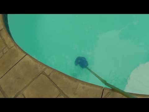What is the trick to getting very fine sediment out of bottom of pool