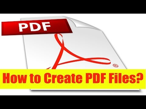 How to Create PDF files from any Application?