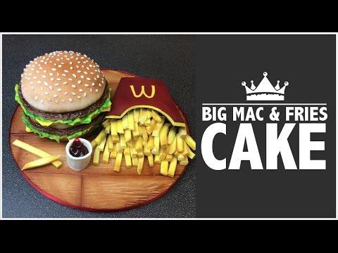 How to make a McDonald's Big Mac & Fries CAKE!