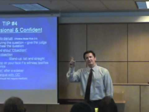Trial Skills Tips - Keep a confident demeanor!