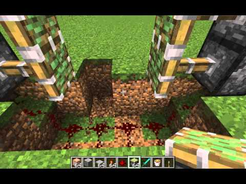 How to make a sliding gate in Minecraft