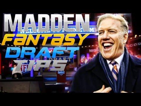 Madden NFL Fantasy Draft Tips & Strategies