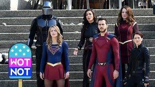 Melissa Benoist Films Supergirl Season 3 Finale with Superhero Help!