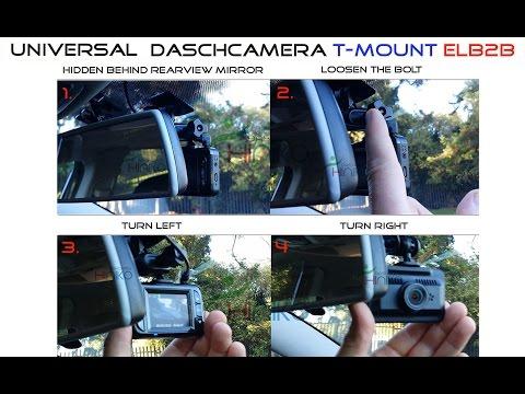 In-Car (ELB2B-3M) T-Mount Elbow bracket / mount 2 ball joints for daschamera, car dvr