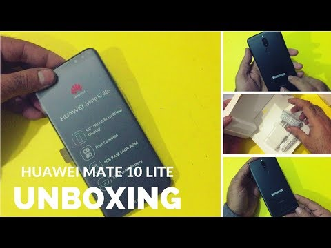 Huawei Mate 10 Lite (Black) Unboxing   Honor 9i   Nova 2i   Maimang 6