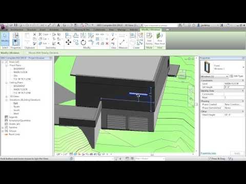 Revit Architecture 2013 Tutorial | Add and Edit Windows