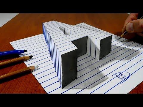 Xxx Mp4 Draw A Letter Quot A Quot On Line Paper 3D Trick Art 3gp Sex