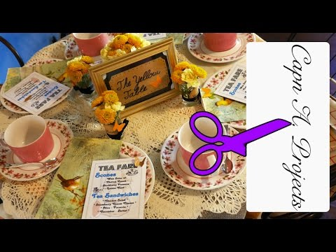 How To Throw A Tea Party - Afternoon Tea RECIPES