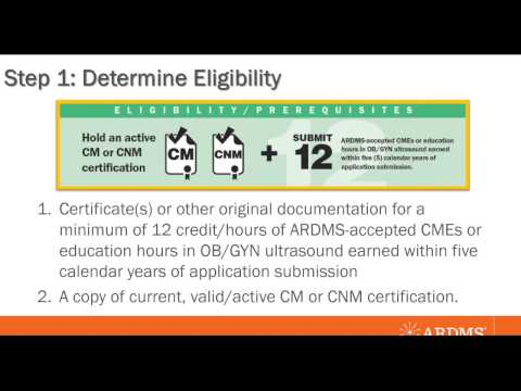 ARDMS Midwife Sonography Certification Process Webinar