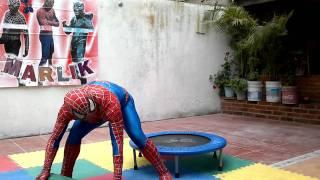 show del hombre araña en fiesta de cumpleaños