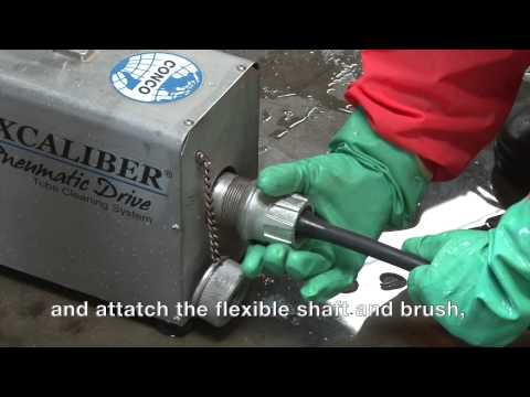 Heat Exchanger Cleaning with Excaliber Tube Cleaner