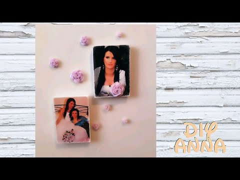 personalised fridge magnets with your laser printed images DIY ideas decorations crafts tutorial