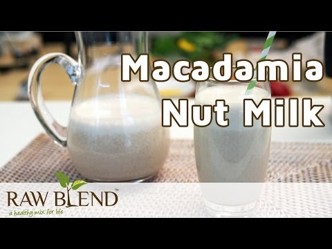 How to Make Dairy Free Milk (Macadamia Nut Recipe) in a Vitamix 5200 Blender by Raw Blend
