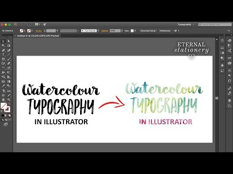 How to add Watercolour textures to text in Adobe Illustrator | Easy DIY tutorial