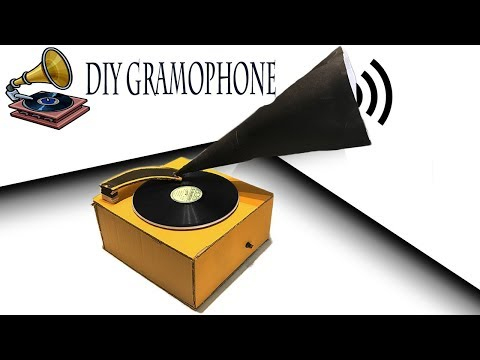 How to make a Gramophone/Turntable at Home