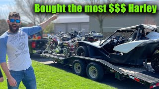 I Bought the Most Expensive Harley at auction and ...
