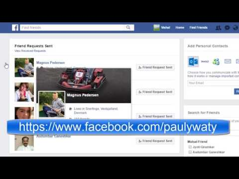 How to view all friend requests sent and recieved in Facebook