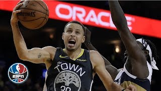 Steph Curry rains for 41 points vs. Pelicans in record-setting Warriors