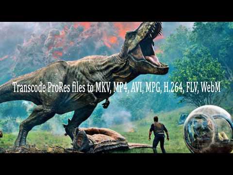 Transcode ProRes files to MKV, MP4, AVI, MPG, H 264, FLV, WebM