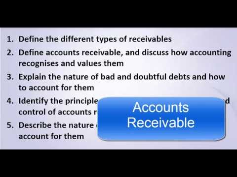 How to Define Accounts Receivables