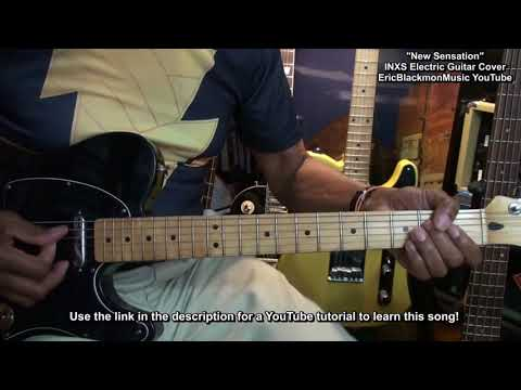 INXS New Sensation Electric Guitar COVER & LESSON LINK Funky Friday