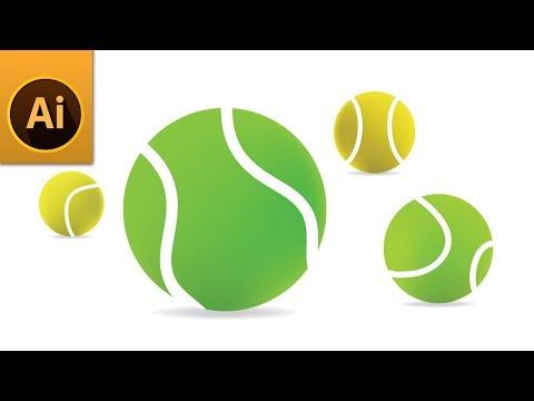 Tutorial   Create a Realistic 3D Tennis Balls in Illustrator