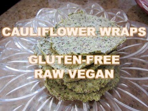 Cauliflower Wraps - Raw, Vegan, Gluten Free Bread Alternative