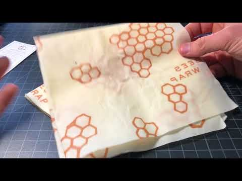 Bee's Wrap Eco-Friendly Reusable Food Wraps Review - Real Beeswax!