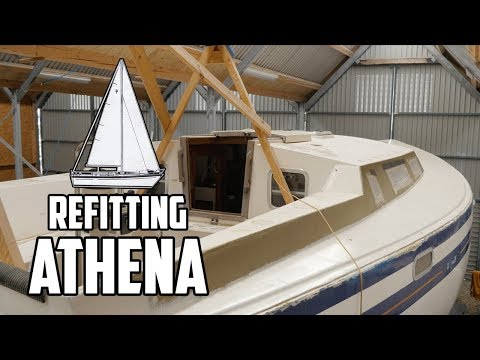 Sail Life - Back in the shed, patching holes & removing deck hardware - DIY boat repair