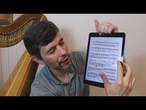 Sheet music on tablets (forScore/iPad) - Harp Tuesday ep. 113