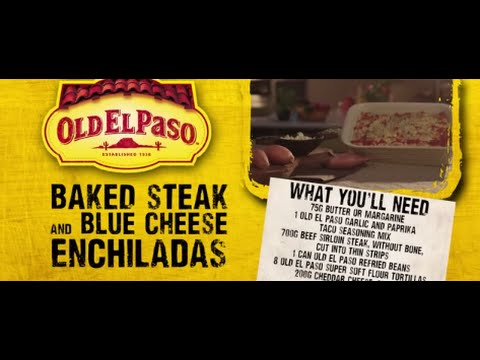 Baked Steak and Blue Cheese Enchiladas | Andy Bates | Old El Paso