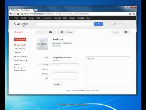 Delete a Contact in Google Apps